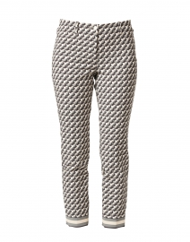 Ros Optical Square Print Techno Stretch Cropped Pant
