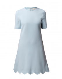 Jolie Frost Blue Scallop Hem Dress