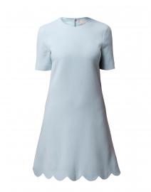 Jolie Frost Blue Scallop Hem Dress