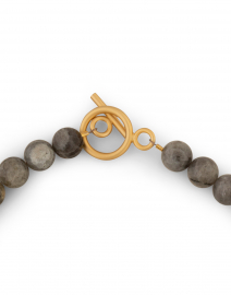 Deborah Grivas - Grey Labradorite and Gold Nugget Necklace
