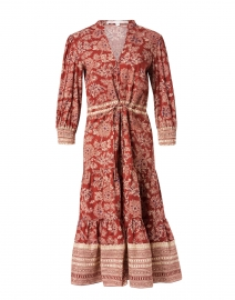 Swedie Rust Floral Stretch Cotton Dress