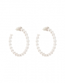 Crystal Baguette Hoop Earrings