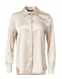 Mosella Beige Stretch Silk Blouse