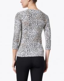 Leggiadro - Black and White Animal Print Cotton Jersey Tee