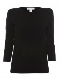 Black Crew Neck Cotton Sweater