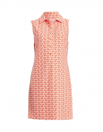 Suzy Orange Chain Link Printed Dress