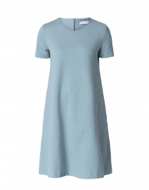 Powder Blue Cotton Canvas Dress