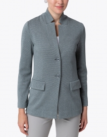 Amina Rubinacci - Due Grey Silver Knit Blazer