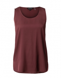Burgundy Stretch Silk Tank