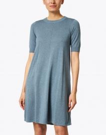 Repeat Cashmere - Ocean Blue Cotton Swing Dress