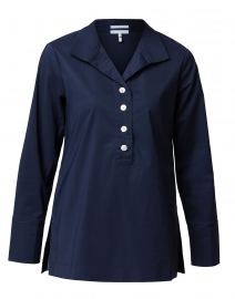 Celine Navy Stretch Cotton Shirt