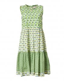 Mariel Green Geometric Printed Cotton Dress