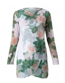 Diane Gardenia Floral Print Mesh Top
