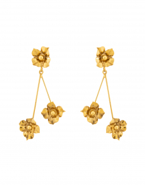Carmen Gold Flower Drop Earrings