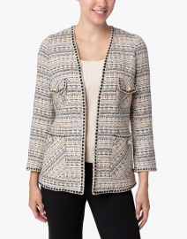Edward Achour - Beige, Black and Multi Tweed Jacket