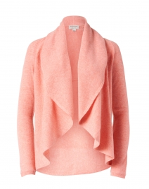 Watermelon Pink Cashmere Circle Cardigan