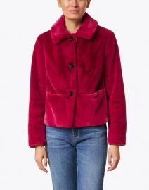 Marc Cain - Raspberry Faux Fur Jacket
