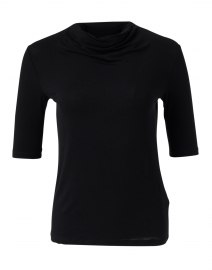 Black Soft Touch Mock Neck Top