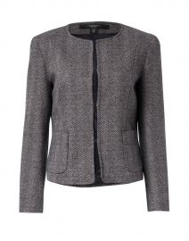 Eresia Grey and Navy Wool Tweed Jacket