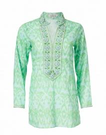 Ikat Turquoise Printed Tunic