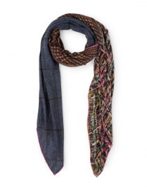 Purple Plaid and Tweed Modal Cashmere Scarf