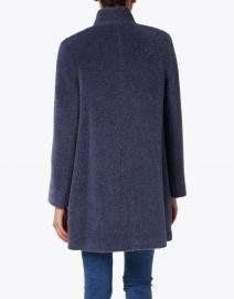 Cinzia Rocca Icons - Blue Wool High Collar Coat