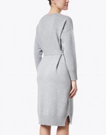 Peserico - Grey Wool Silk Cashmere Knit Dress