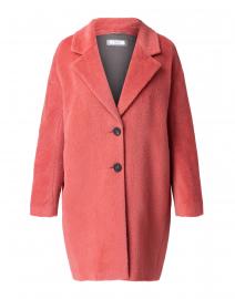 Coral Pink Suri Alpaca Wool Coat