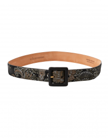 Black and Gold Brocade Calf Belt