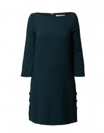 Harlow Fern Green Wool Crepe Tunic Dress