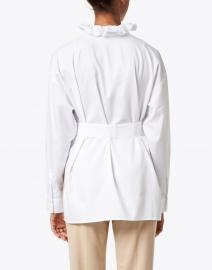 Hinson Wu - Michaela White Ruffled Oversize Cotton Tunic