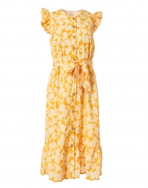 Della Marigold Floral Embroidered Cotton Dress