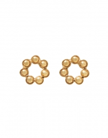 Daisy Gold Circle Stud Earrings