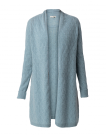 Sophie Light Teal Cable Knit Cashmere Cardigan