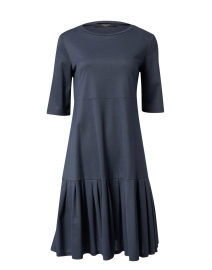 Navarra Navy Cotton Tiered Dress
