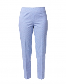 Monia Blue and White Micro Dot Cotton Stretch Pant