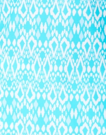 Jude Connally - Chris Aqua Diamond Ikat Printed Nylon Top