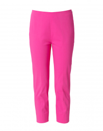 Passion Pink Stretch Cotton Slim Fit Capri