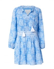 Blue Hydrangea Printed Cotton Voile Dress