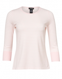 Light Pink and White Stripe Stretch Viscose Top