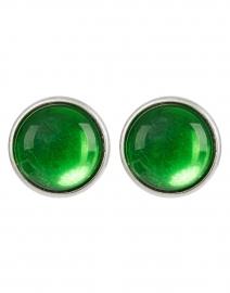 Sea Green Silver Stud Earring