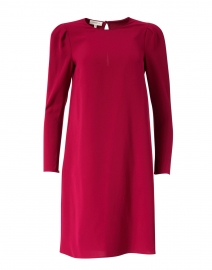 Gia Hibiscus Magenta Crepe Dress
