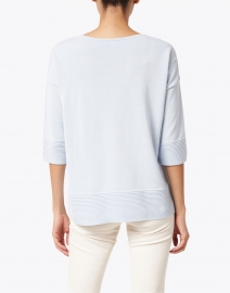 Kinross - Light Blue Easy Rib Cotton Sweater