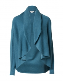 Lake Blue Cashmere Circle Cardigan