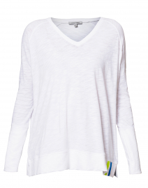 Beach White Tee with Sleeve Pocket