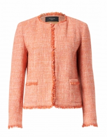 Ponte Pink and Orange Tweed Jacket