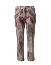 Astrale Pink and White Tile Print Cotton Stretch Pant