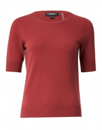 Terracotta Red Knit Cashmere Top