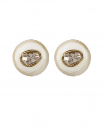 Blonde Horn Diamond Stud Earrings