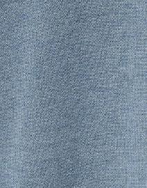 Repeat Cashmere - Ocean Blue Cotton and Viscose Fringe Cardigan
